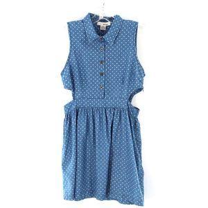 Sans Souci Polkadot Side Cutout Dress